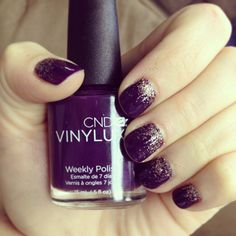 cnd vinylux rock royalty with gold glitter!