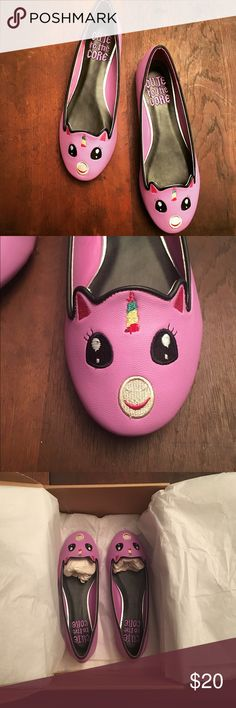 Unicorn Shoes Brand new, never worn, purple unicorn shoes. Very comfy. Cute to the Core Shoes Flats & Loafers