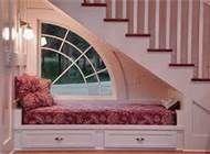 Bed Nook and Reading Nook Decoration Ideas, I would like this better with open shelving underneath, I think.