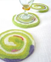 Felted coasters -- I have these and love them!