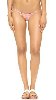 Buy it now. Blue Life Desert Mirage Tie Side Bikini Bottoms - Blush Tie Dye. Lace trim accents these tie dye Blue Life bikini bottoms. Braided ties. Lined. 87% polyamide/13% spandex. Hand wash. Made in the USA. Size & Fit. Available sizes: L , bikini, bikini, biquini, conjuntosdebikinis, twopiece, trisuit. Hot pink,navy Blue life  swimsuit  for woman.