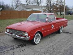 1960 FORD RANCHERO V8, AUTO 289, RED, DUAL EXHAUST , NO RUST SHOP & PIT TRUCK