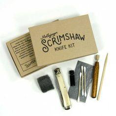 Scrimshaw Knife Kit - lockback