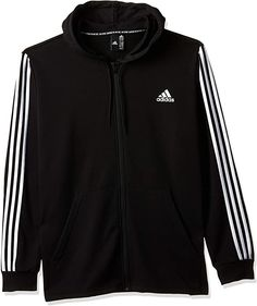 Adidas Hoody  Bekleidung, Herren, Sweatshirts & Kapuzenpullover, Kapuzenpullover Sweatshirts, Hoodies, Jack Jones, Must Haves, Adidas Jacket, Athletic, Zip, Black And White, Jackets