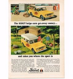 retro camping ads images | ... With Camper Top Vintage Print Ad used, new for sale - Holidays.net