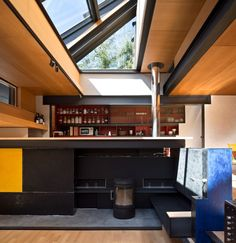 The raised kitchen inside architect Richard Murphy's home, which has been named RIBA House of the Year 2016.