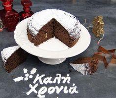 Cake with chocolate Food Categories, Greek Recipes, Tiramisu, Food And Drink, Birthday Cake, Pudding, Cupcakes, Sweets, Chocolate