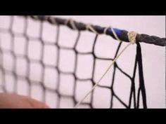 How-To video illustrating techniques for attaching netting to border ropes and joining two pieces of netting together to form a contiguous panel. Visit our W...