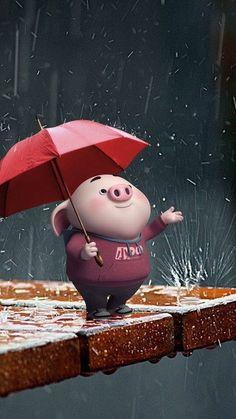 Cute Pig Wallpaper - Best of Wallpapers for Andriod and ios Wallpaper Fofos, Pig Wallpaper, Disney Wallpaper, Iphone Wallpaper, Little Pigs, This Little Piggy, Cute Piglets, 3d Art, Pig Illustration