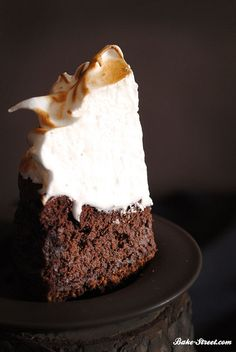 Guinness, Cinnamon, & Chocolate Cake with Cheesecake Icing, Topped with Caramel Drizzle