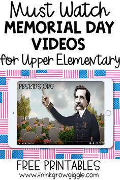 Memorial Day activities, videos and lessons to use with upper elementary students to understand American patriotism and American holidays. Learn about the history of Memorial Day. Reading Activities, Activities For Kids, History Of Memorial Day, Memorial Day Activities, Teacher Freebies, Free Teaching Resources, Reading Workshop, Too Cool For School, Abcs