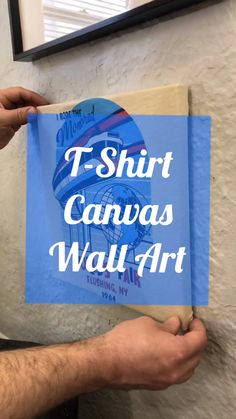 Upcycled T Shirt Canvas Wall Art T Shirt Canvas Art Upcycle Those Beloved T Shirts You Can T Seem To Get Rid Of Upcycle Your Favorite T Shirt Into Hanging Wall Art Tshirt Wallart Homedecor Queens Canvasart Canvas Easycraft Easyhack Worldsfair Fiskars Hanging Wall Art, Diy Wall Art, Hanging Canvas, Diy Wall Decor For Bedroom Easy, Wall Of Art, Wall Art For Bedroom, Diy Wall Painting, T Shirt Painting, Kids Room Wall Art