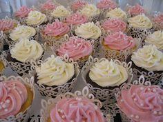 Lace Cupcake Holders = beautiful!!