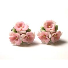Lladro Floral Earrings with Box (£175) ❤ liked on Polyvore featuring jewelry, earrings, lladró, floral earrings, floral jewelry and earring jewelry