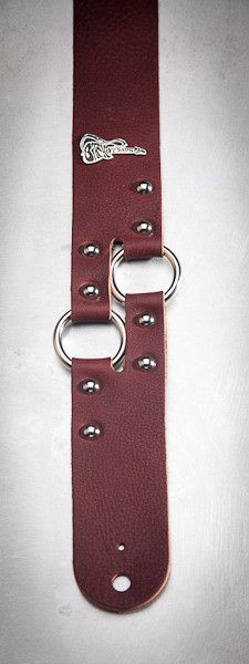 Leather Guitar Strap - 2 Ring