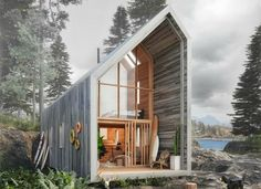 The flat-packed Surf Shack from Backcountry Hut Company (BHC) is an off-grid dwelling that can be delivered anywhere by helicopter and assembled on-site,