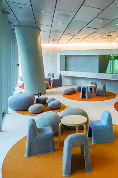 BIG twist: Bjarke Ingels puts a new spin on Miami condo living Cafe Interior, Interior Design Living Room, Kindergarten Interior, Kindergarten Design, Indoor Playroom, Kids Play Spaces, Small Spaces, Tout Rose, Kids Cafe