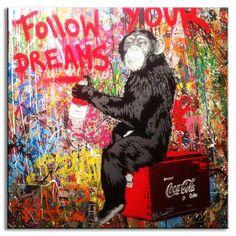 Banksy Monkey Art