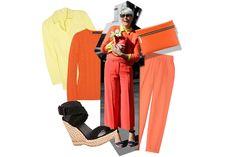 Elisa Nalin in arancioe  giallo