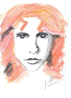 Val Kilmer as Jim Morrison in the movie, The Doors. ART by Jana Riffe