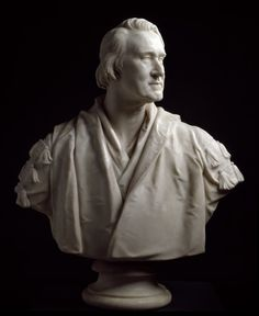 Bust of Joseph Henry Green, ca. 1863 by Henry Weekes.  Marble, 930 X 790 X 400 mm. Diploma Work given by Henry Weekes, R.A., accepted 1863. Photo: R.A./Paul Highnam © Copyright protected