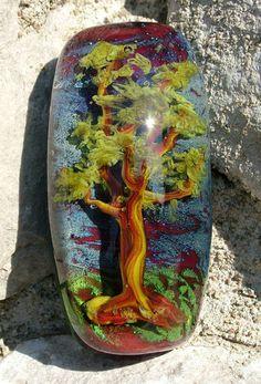 "Handmade Lampwork Focal Bead ""Fantasy"" Tree Art SRA | eBay"