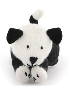 Free Knitting Pattern KFAsheepdog Knitted Farm Animals Sheepdog : Lion Brand Yarn Company