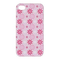 Pink Flower Pattern iPhone 4 4s Hardshell Case Cover