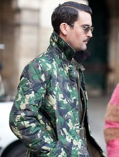 Camo:  From traditional bright green and olive tones to deconstructed interpretations on the print, camo has officially traveled from the runway to the streets.