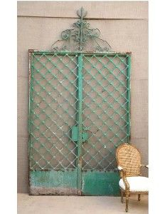 """Found objects, re-purposed, or antique doors, windows and gates are available  at local dealers or online sources.  Think about how you might use that """"perfect"""" detail you saw last week, in your garden."""