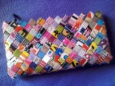 How-to make candy wrapper bag/purses (click on go-to tutorial)