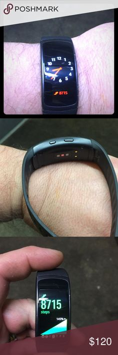 Samsung Fit Like new !! Box and Charger  Nice gadget email notifications texts and much more !!! Hart rate ,coffee count , step count!! samsung fit Accessories Watches