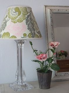 there were two nice lamps left for us with plain white shades....i really want to spruce them up with some nice fabric and ribbon piping.