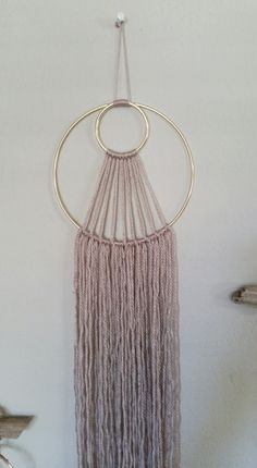 Bohemian Small Taupe and Gold Dream Catcher by NWUrbanCottage on Etsy