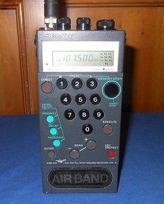 Sony-AIR-8-4-Band-Aviation-Radio-Scanner-AM-FM-Air-PSB