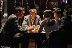 Robin Tunney, Simon Baker, Tim Kang, and Owain Yeoman in The Mentalist (2008)