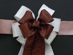Church pew bows