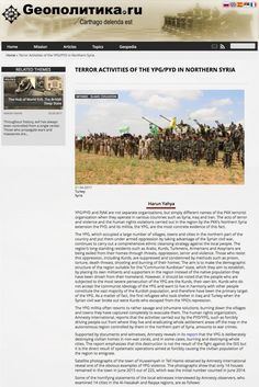 Terror Activities of the YPG/PYD in Northern Syria