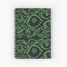 Spooky Eyes, Good To See You, Notebook Design, Dad Hats, Top Artists, Sell Your Art, Spiral, Lime, Paper