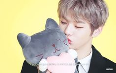 The Spring Home CF x Wanna One Kang Daniel Perfect Peach, Spring Home, Handsome Boys, Jinyoung, Disney Characters, Fictional Characters, Dinosaur Stuffed Animal, Disney Princess, Animals