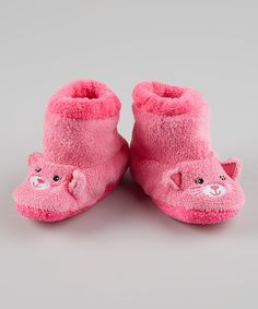 Pink Kitty Slippers