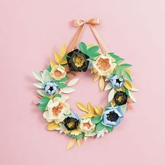Bring the joys of spring to your space! Enjoy lush leaves and beautiful blooms all year long - no green thumb required! <br> <br> - Kit includes: pre-cut shapes, ribbon, wreath form, adhesive foam squ