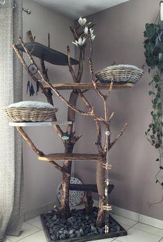 Cat Tree House, Cat House Diy, Wooden Cat Tree, Diy Cat Tower, Home Decoracion, Cat Towers, Cat Shelves, Cat Playground, Cat Scratcher