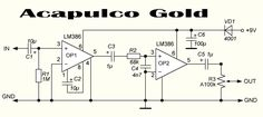 EQD Acapulco Gold: which LM386N can I use? Distortion Pedal, Electronic Circuit Projects, Garage Makeover, Circuit Diagram, Shop Layout, Guitar Pedals, Guitar Amp, Guitars, I Can