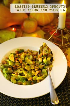 roasted brussels sprouts with bacon and walnuts, ruzickovy kel so slaninou a vlasskymi orechmi