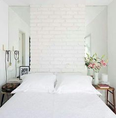 Colors For the Small Bedroom – Naturals Give Small Rooms a Subtle Distinction Bedroom Apartment, Home Decor Bedroom, Apartment Living, Apartment Therapy, Mirror In Bedroom, Bedroom Alcove, Living Rooms, Bedroom Closets, Budget Bedroom