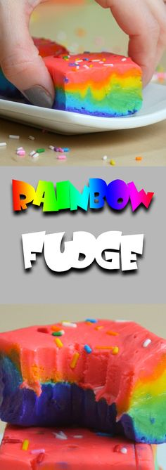 This super simple recipe for homemade Rainbow Fudge couldn't be any easier! After melting 5 ingredients together, just dye it the colors of the rainbow and let harden! In no time your kids will be gobbling velvety and rich fudge off of your counter! Easy Desserts For Kids, Cooking With Kids Easy, Kid Desserts, Easy Meals For Kids, Baking With Kids, Kids Meals, Simple Recipes For Kids, Fudge Recipes, Candy Recipes