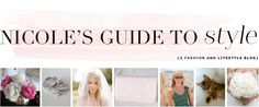 Nicole's Guide To Style- Header