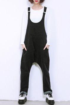 overalls| $21.20  grunge hipster punk nu goth pastel goth fachin overalls pants bottoms under30 sammydress