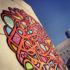 One of eL Seed's calligraffiti murals. His work is so beautiful...